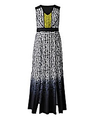 Grazia Geo Ombre Print Maxi Dress