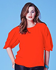 Grazia Pleat Sleeve Blouse