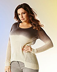 Kelly Brook Open Knit Jumper