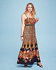 Lovedrobe Stud Trim Print Maxi Dress