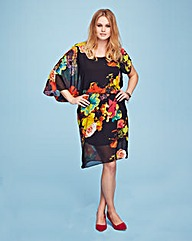 Lovedrobe One Sleeve Print Blouson Dress