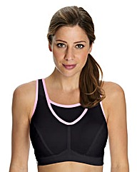 Glamorise No Bounce Black Sports Bra