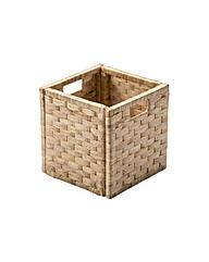 Water Hyacinth Cubed Storage Basket