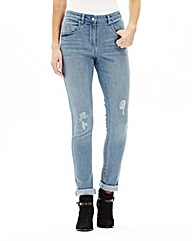 Simply Be Slim Leg Boyfriend Jeans Reg