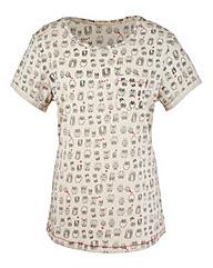 Owl Print T-Shirt