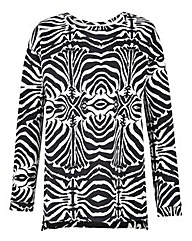 Zebra Print Sweat Top