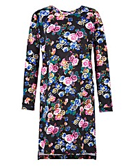 Floral Print Sweat Dress