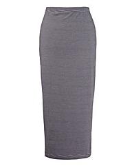 Stripe Midi Tube Skirt