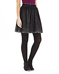 Acidwash Jersey Skater Skirt