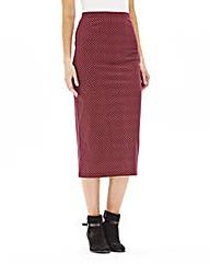 Spot Midi Tube Skirt