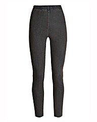 Grey Slim Leg Jeggings Reg