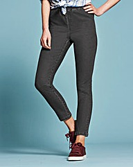 Grey Slim Leg Jeggings Short