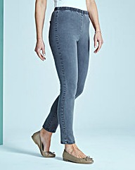 Grey Slim Leg Jeggings Long