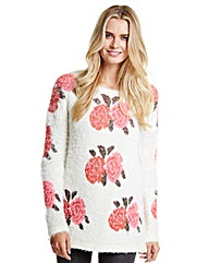 Floral Fluffy Jumper