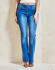 Kim High Waisted Bootcut Jeans Short
