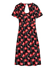 Poppy Print Tea Dress - Petite