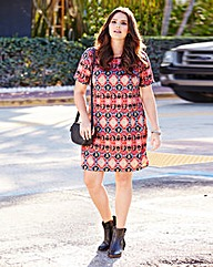 Ikat Print Shift Dress