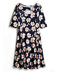 Floral Print Jersey Flippy Dress