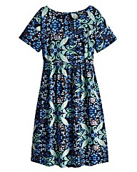 Folk Print Smock Dress - Regular
