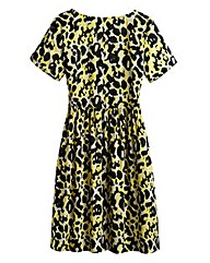 Animal Print Smock Dress - Petite