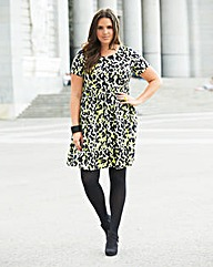 Animal Print Smock Dress - Regular