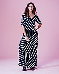 Geo Stripe Jersey Maxi Dress - Regular