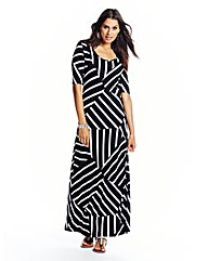 Geo Stripe Jersey Maxi Dress - Tall