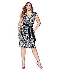 MAGISCULPT Geo Print Wrap Top Dress
