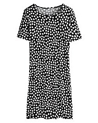 Spot Print T-Shirt Dress