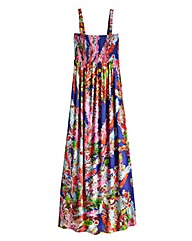 Feather Print Maxi Dress - Petite