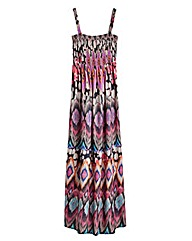 Tribal Print Maxi Dress - Petite