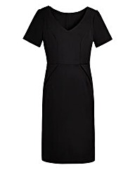 BESPOKEfit V-Neck Ponte Dress - Standard