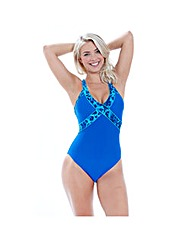 Zoggs Blue Planet Crossback Swimsuit