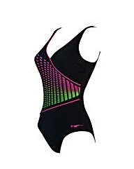 Zoggs Class Diva Wrap Front Swimsuit