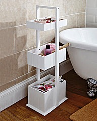 3 Tier Tongue and Groove Bathroom Caddy