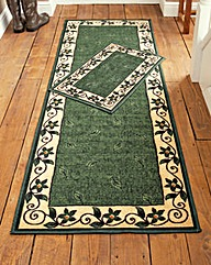 Leaf Border Design Runner & Free Doormat