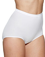 Charnos 2 Pack White Maxi Briefs