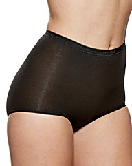 Charnos 2 Pack Black Maxi Briefs