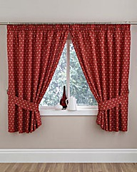 Polka Dot Thermal Kitchen Curtain