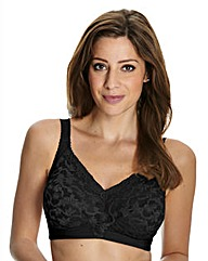 Delicate Doreen Black Non Wired Bra