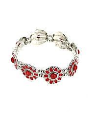 Elasticated Flower Panel Bracelet