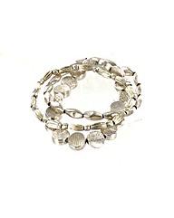 Flat Bead Elasticated Bracelet