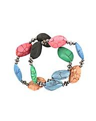 Colourful Natural Stone Bracelet