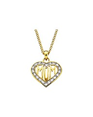 9ct Gold Plated Silver Heart Pendant