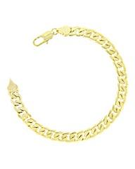Gold Plated Ladies Curb Bracelet