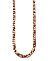 Rose Gold Plate Chunky Bead Necklace
