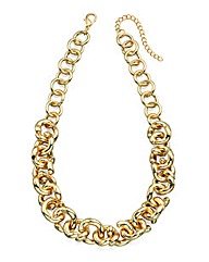 Gold Twist Chain Link Necklace 44-47cm