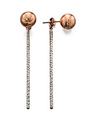 Rose Gold Stud and Bar Earring