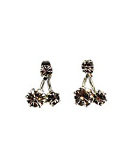 Diamante Front Back Earring