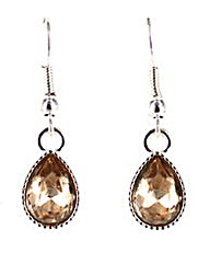 Glass Tear Drop Earring